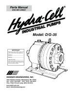 D35 coolant pump parts manual